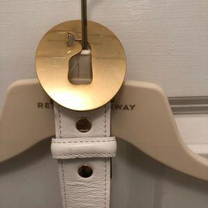 Vineyard Vines White Leather Belt